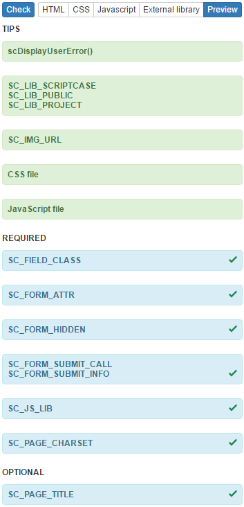 User HTML - Scriptcase Manual