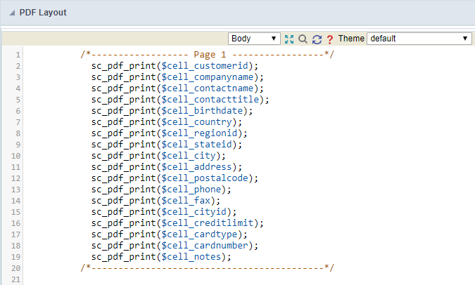 PDF Advanced settings - Scriptcase Manual