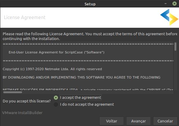 Installer for Linux - Scriptcase Manual