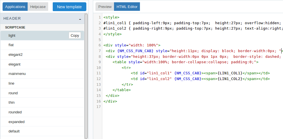 Html Templates Scriptcase Manual