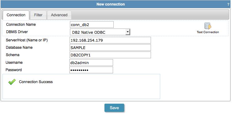 Connecting with IBM DB2