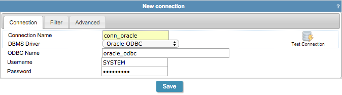 Connecting with Oracle ODBC