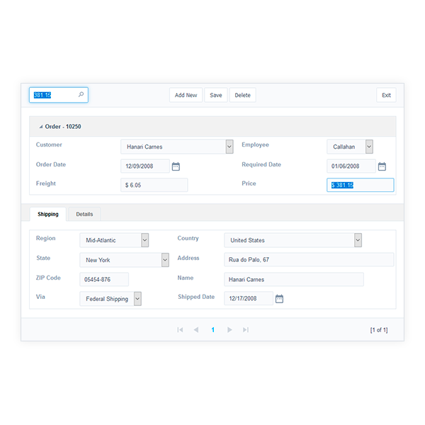 Forms - Features - Scriptcase